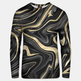 Thumbnail image of Black Gray White Gold Marble #1 #decor #art  Unisex sweatshirt, Live Heroes