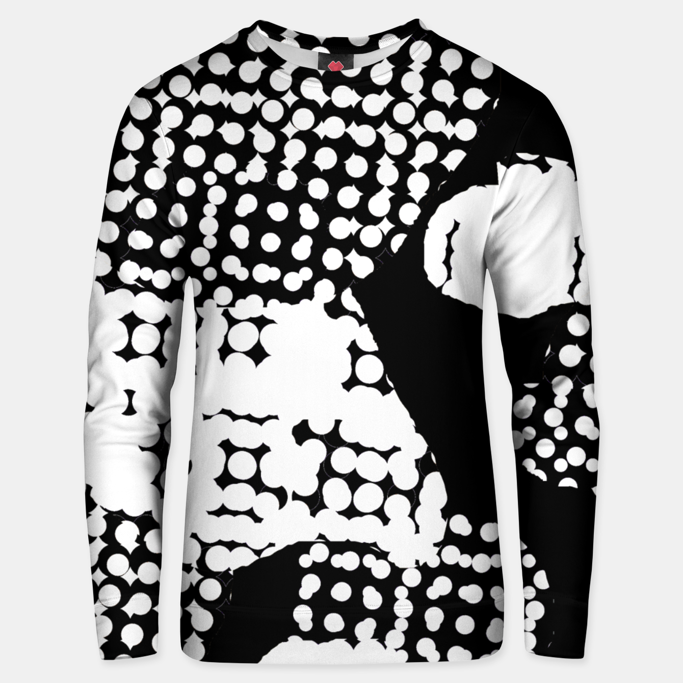 Image of Pattern Abstrait Formes Noir/Blanc Unisex pull - Live Heroes