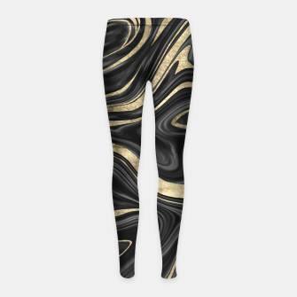 Thumbnail image of Black Gray White Gold Marble #1 #decor #art  Kinder-Leggins, Live Heroes