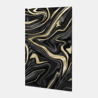 Thumbnail image of Black Gray White Gold Marble #1 #decor #art  Canvas, Live Heroes