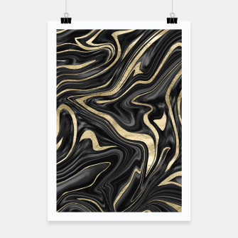 Thumbnail image of Black Gray White Gold Marble #1 #decor #art  Plakat, Live Heroes