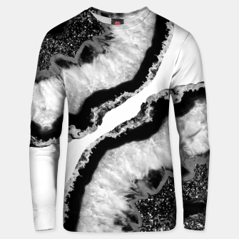 Thumbnail image of Gray Black White Agate Glitter Glamor #2 #gem #decor #art  Unisex sweatshirt, Live Heroes