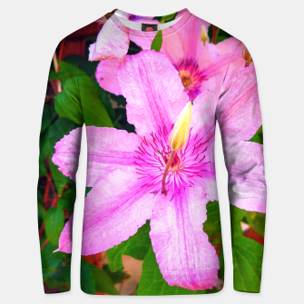 Thumbnail image of clematis 1 std Unisex sweater, Live Heroes