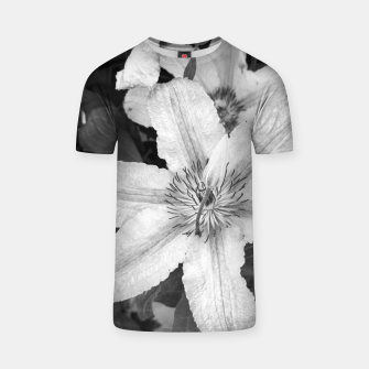 Thumbnail image of clematis 1 bw T-shirt, Live Heroes