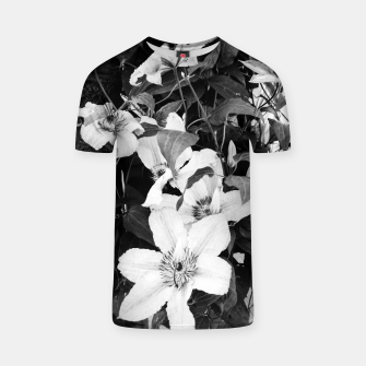 Thumbnail image of clematis 2 bw T-shirt, Live Heroes