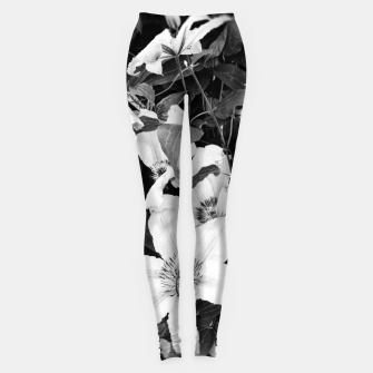 Thumbnail image of clematis 2 bw Leggings, Live Heroes