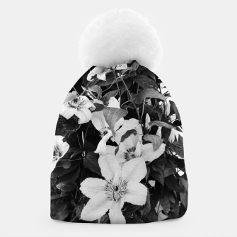clematis 2 bw Beanie thumbnail image