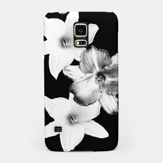 Miniatur White Lilies on Black #1 #floral #decor #art Handyhülle für Samsung, Live Heroes