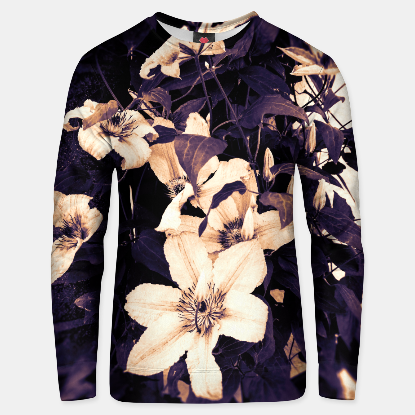 Image of clematis 2 ls Unisex sweater - Live Heroes