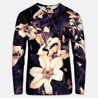 Thumbnail image of clematis 2 ls Unisex sweater, Live Heroes