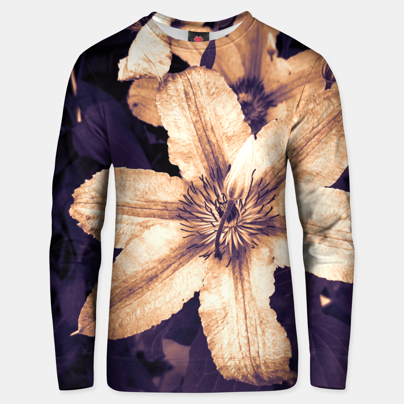 Image of clematis 1 ls Unisex sweater - Live Heroes