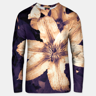 Thumbnail image of clematis 1 ls Unisex sweater, Live Heroes