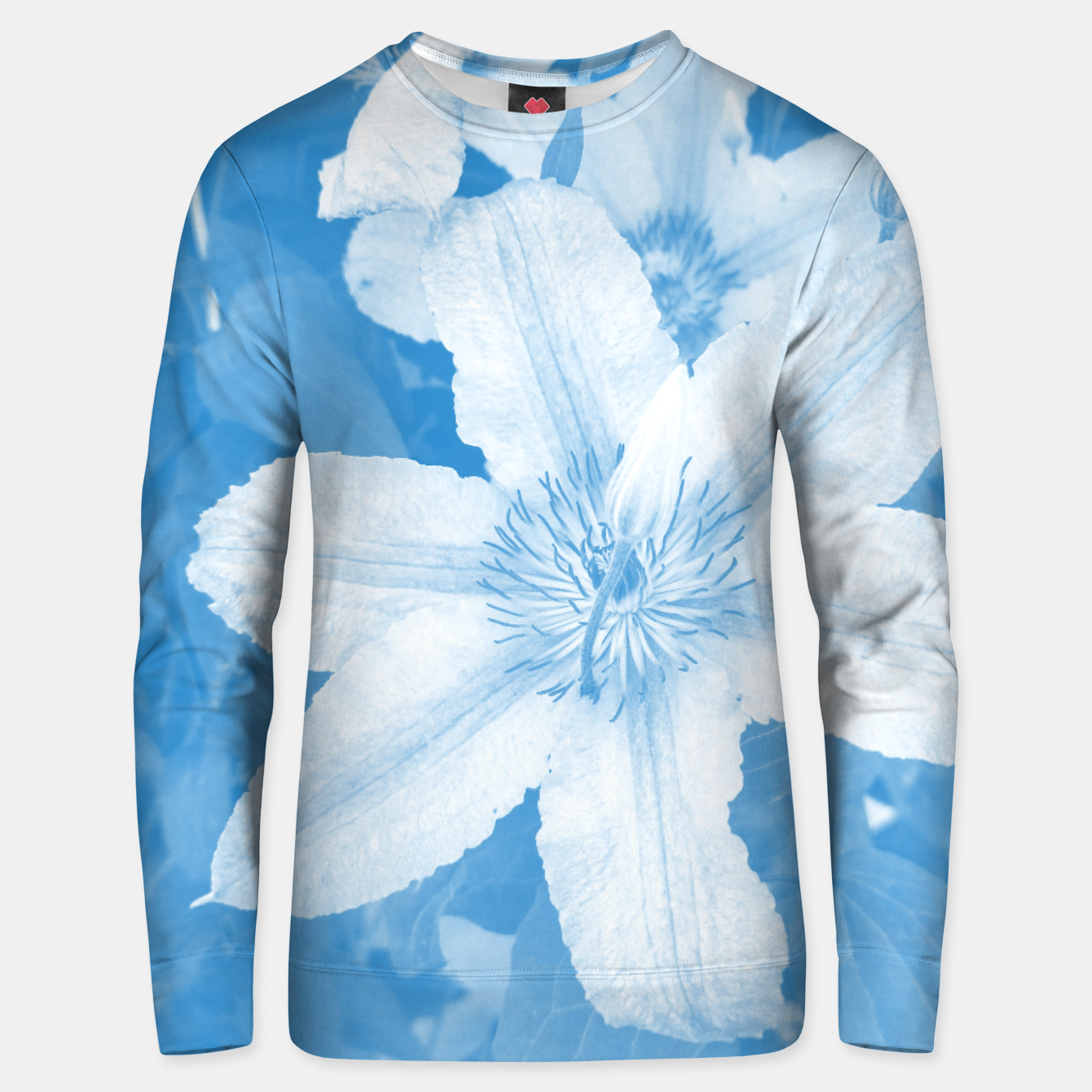 Image of clematis 1 wb Unisex sweater - Live Heroes