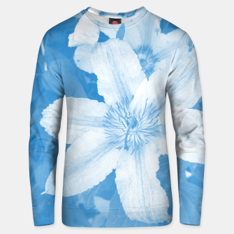 Thumbnail image of clematis 1 wb Unisex sweater, Live Heroes
