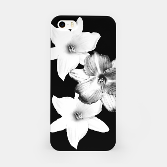 Thumbnail image of White Lilies on Black #1 #floral #decor #art iPhone-Hülle, Live Heroes