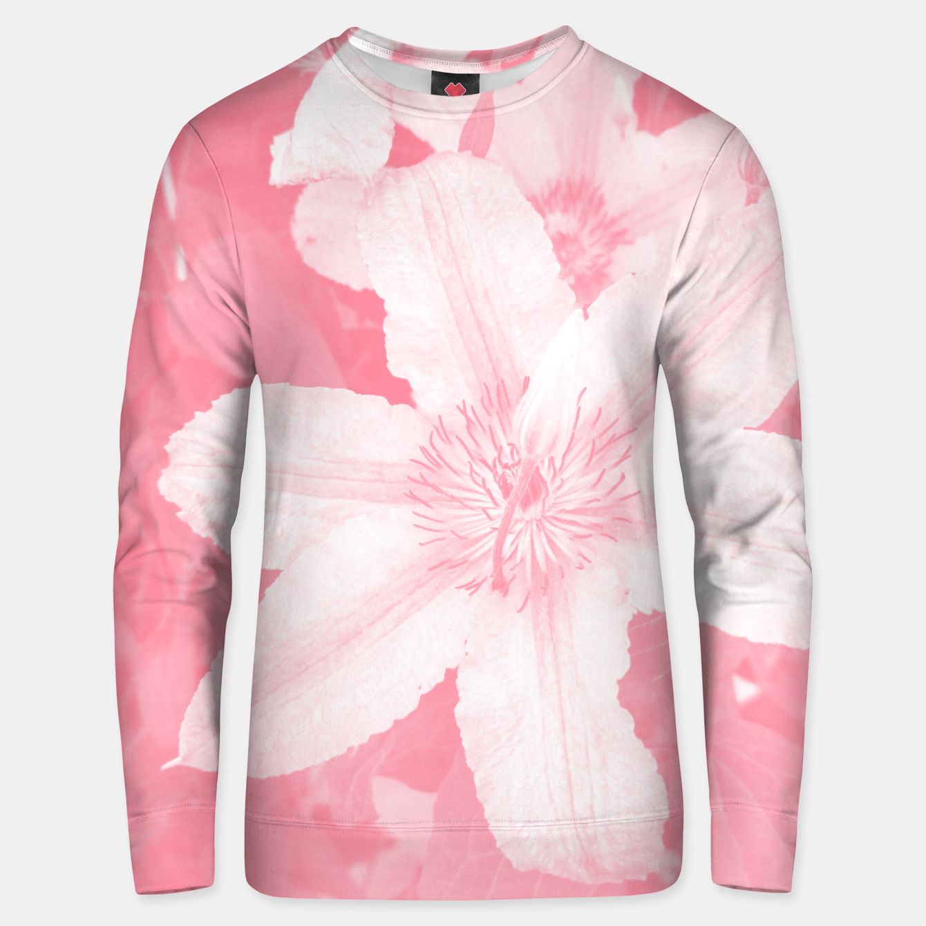Image of clematis 1 pw Unisex sweater - Live Heroes
