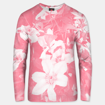 Thumbnail image of clematis 2 pw Unisex sweater, Live Heroes
