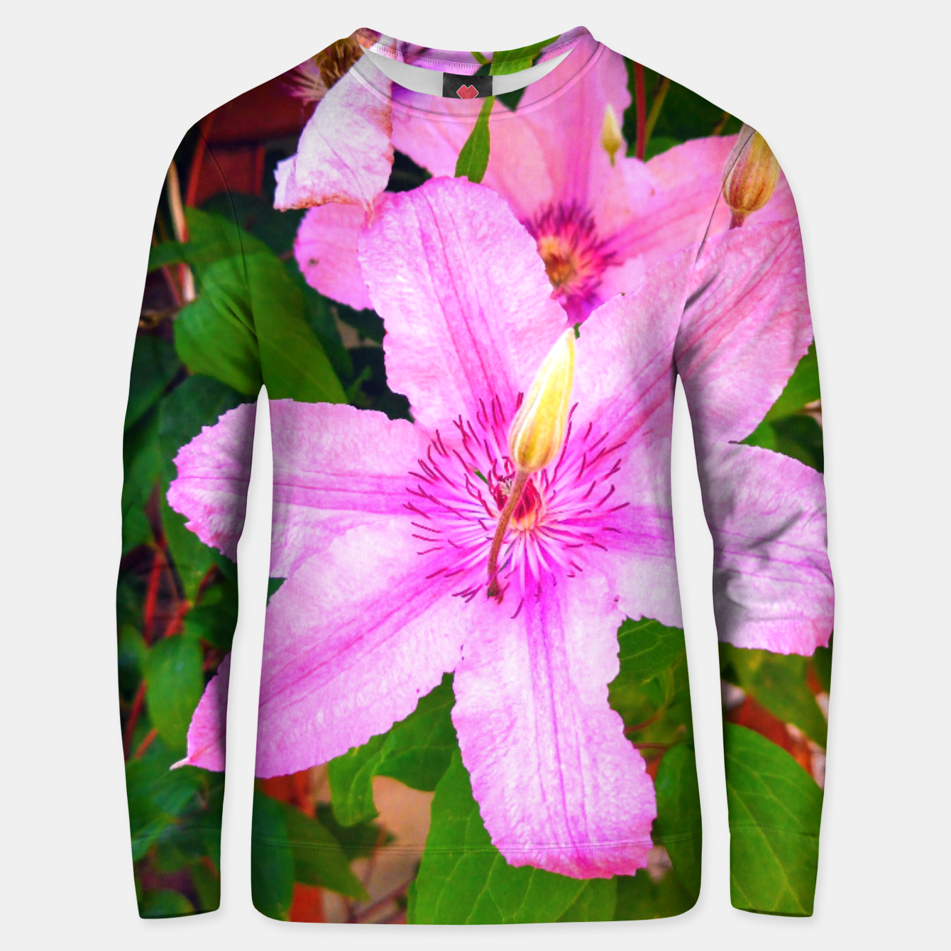 Image of clematis 1 orig Unisex sweater - Live Heroes