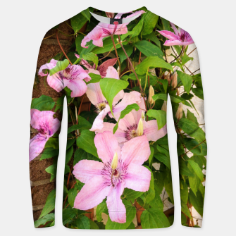 Thumbnail image of clematis 2 orig Unisex sweater, Live Heroes