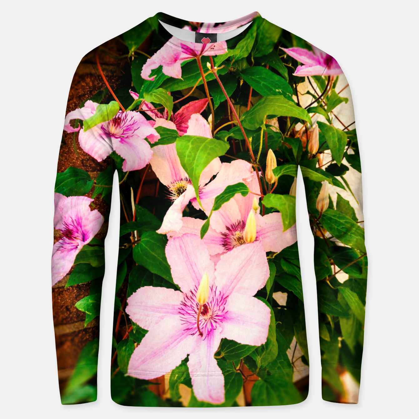 Image of clematis 2 std Unisex sweater - Live Heroes