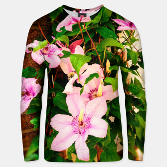 Thumbnail image of clematis 2 std Unisex sweater, Live Heroes