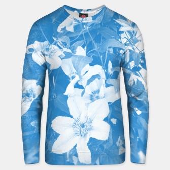 Thumbnail image of clematis 2 wb Unisex sweater, Live Heroes