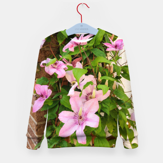 clematis 2 orig Kid's sweater thumbnail image