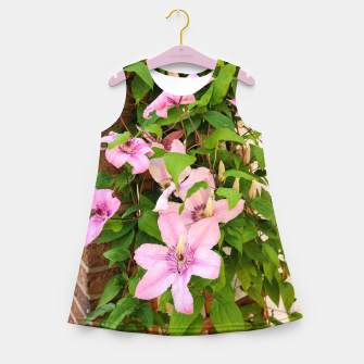 clematis 2 orig Girl's summer dress thumbnail image