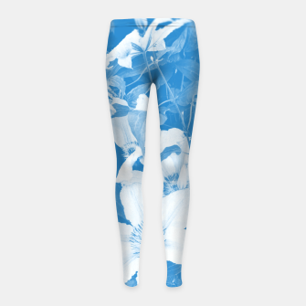 clematis 2 wb Girl's leggings thumbnail image