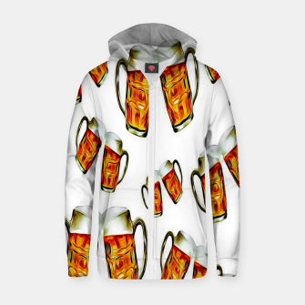 Beers forever-White Sudadera con capucha y cremallera  thumbnail image