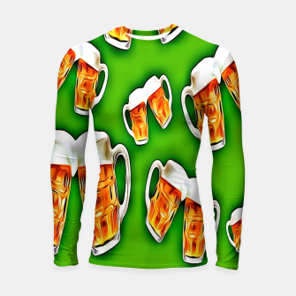 Thumbnail image of Beers forever-Green Longsleeve rashguard, Live Heroes