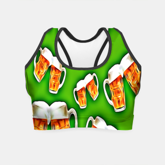 Beers forever-Green Crop Top thumbnail image