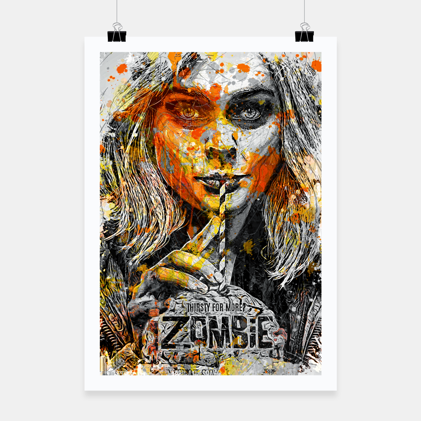 Image of Zombie Poster - Live Heroes