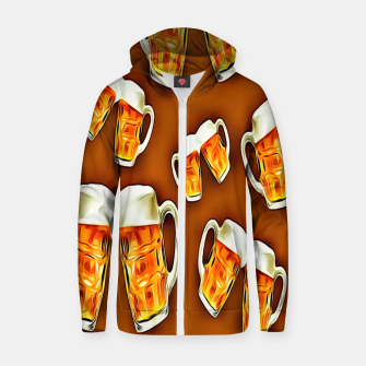 Thumbnail image of Beers forever-Brown Sudadera con capucha y cremallera , Live Heroes