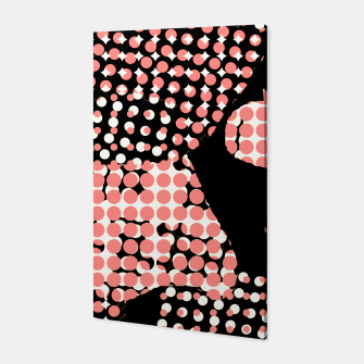 Thumbnail image of Pattern Abstrait Formes Noir/Rose  Toile, Live Heroes