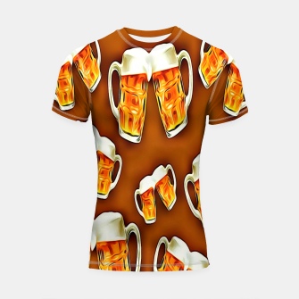 Thumbnail image of Beers forever-Brown Shortsleeve rashguard, Live Heroes