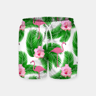 Tropical flamingo Swim Shorts thumbnail image