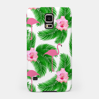 Tropical flamingo Samsung Case thumbnail image