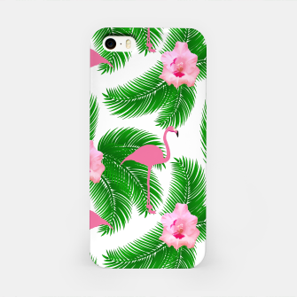 Tropical flamingo iPhone Case thumbnail image