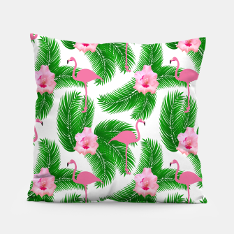 Tropical flamingo Pillow thumbnail image