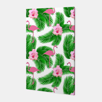Tropical flamingo Canvas thumbnail image