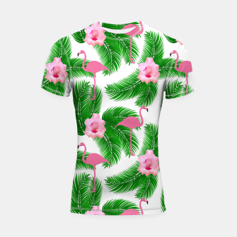 Tropical flamingo Shortsleeve rashguard thumbnail image