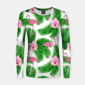 Tropical flamingo Women sweater thumbnail image