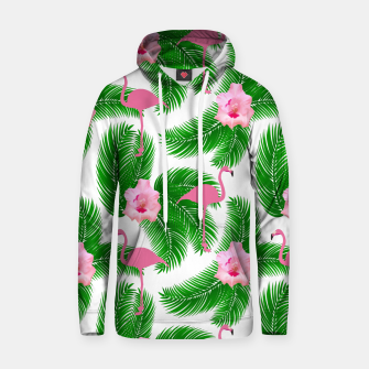 Tropical flamingo Hoodie thumbnail image