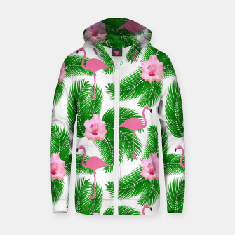 Tropical flamingo Zip up hoodie thumbnail image