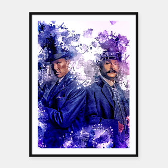 Thumbnail image of detectives Framed poster, Live Heroes