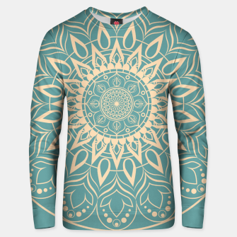 Thumbnail image of Turquoise and Yellow Mandala III Unisex sweater, Live Heroes