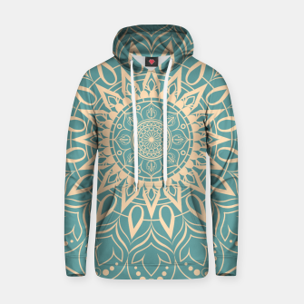 Thumbnail image of Turquoise and Yellow Mandala III Hoodie, Live Heroes