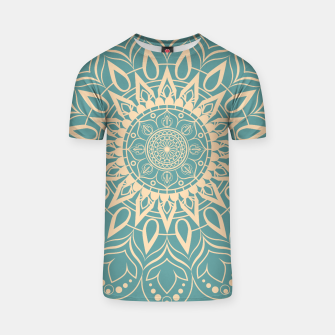 Thumbnail image of Turquoise and Yellow Mandala III T-shirt, Live Heroes