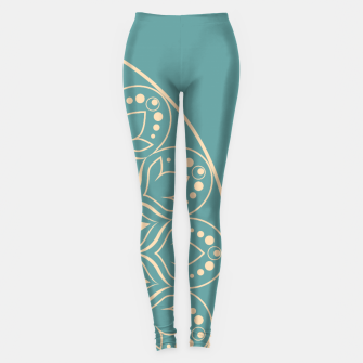 Thumbnail image of Turquoise and Yellow Mandala III Leggings, Live Heroes